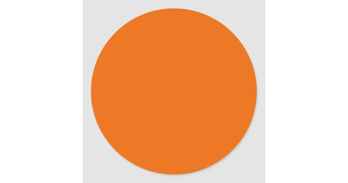 Vision 0 sticker - Cercle De Couleur Orange Sticker Rond Zazzle