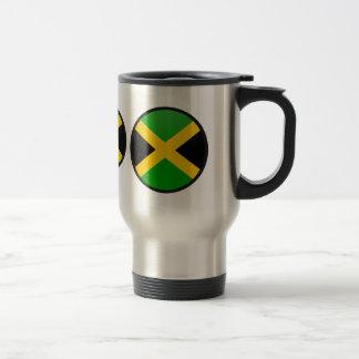 Cercle de drapeau de qualité de la Jamaïque Mug De Voyage