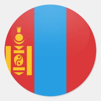 Cercle de drapeau de qualité de la Mongolie Autocollant Rond