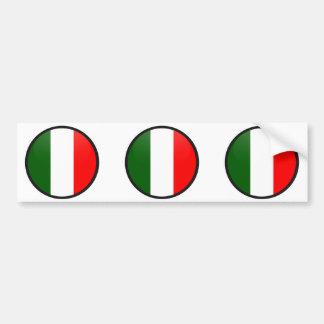Cercle de drapeau de qualité de l'Italie Autocollant De Voiture