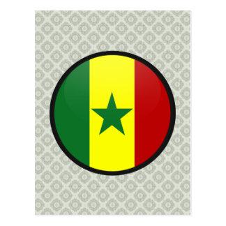 Cercle de drapeau de qualité du Sénégal Carte Postale