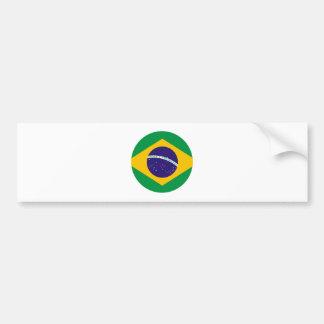 Cercle de drapeau du Brésil le MUSÉE Zazzle Autocollant Pour Voiture