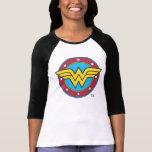 Cercle de femme de merveille et logo d'étoiles t-shirts