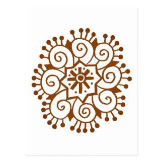 Cercle de henné carte postale