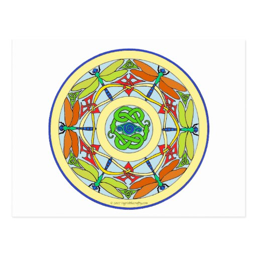 cercle de libellule carte postale