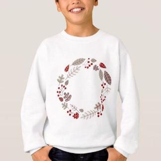 Cercle de Noël/rouge brun de guirlande Sweatshirt