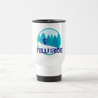 Cercle de ski de tellurure mug de voyage
