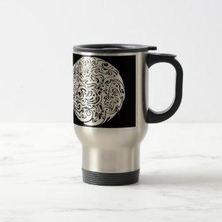 Cercle de tourbillonnement mug de voyage en acier inoxydable