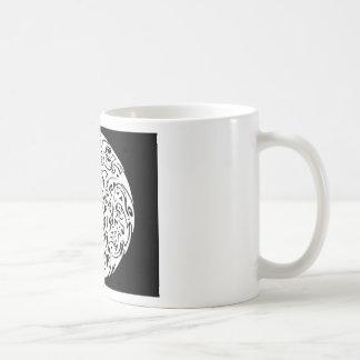 Cercle de tourbillonnement mug à café