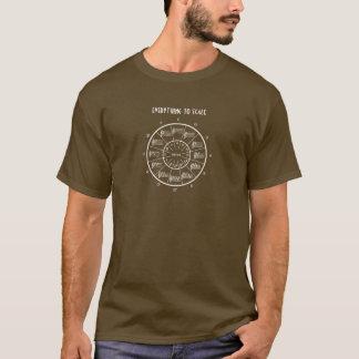 Cercle des cinquièmes pour que tout mesure t-shirt