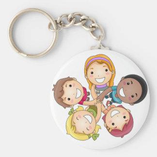 Cercle des enfants porte-clé rond