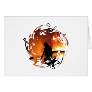 Cercle des flammes cartes de vœux