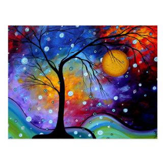 Cercle d'étincelle d'hiver de la peinture de la carte postale