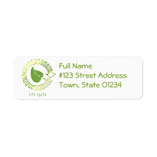 Cercle d'étiquette de adresse de retour de la vie étiquette d'adresse retour