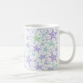 Cercle en pastel de culture mug blanc