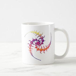 Cercle en spirale de culture mug blanc