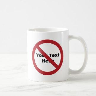 Cercle fait sur commande avec la barre oblique mug