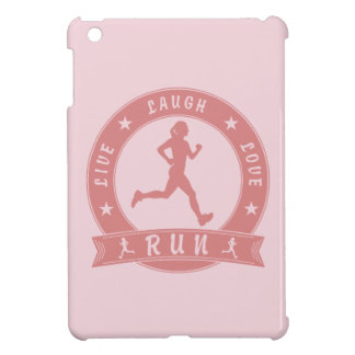 Cercle femelle COURU par amour vivant de rire Coques iPad Mini