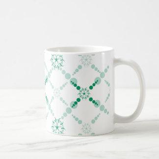 Cercle géométrique de culture mug blanc