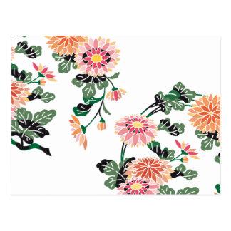 Cercle japonais de fleur carte postale