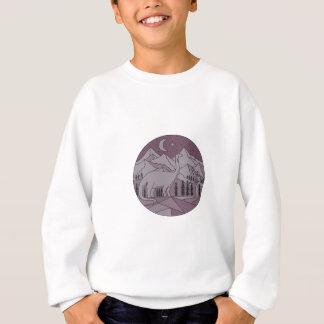 Cercle L mono de lune de montagne de brontosaure Sweatshirt