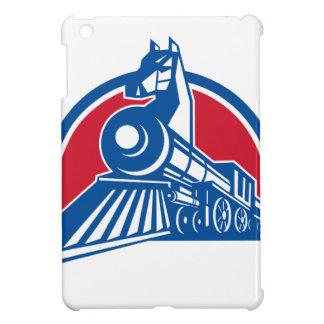 Cercle locomotif de cheval de fer rétro étui iPad mini