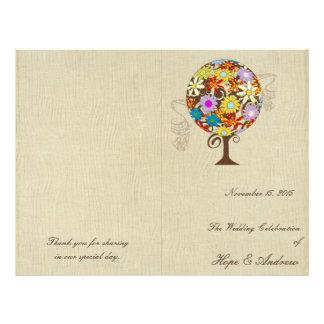 Cercle magique de forêt du mariage d'arbre de prospectus 21,6 cm x 24,94 cm