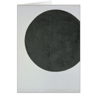 Cercle noir, c.1923 carte de vœux