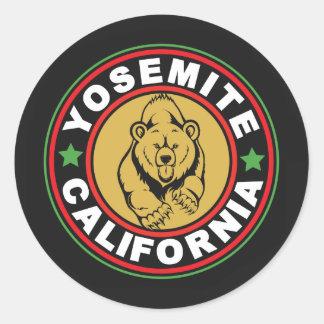 Cercle noir de Yosemite Sticker Rond