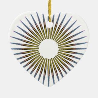 cercle ornement cœur en céramique