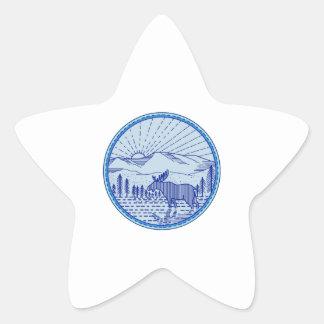 Cercle plat Li mono de rayon de soleil de Sticker Étoile