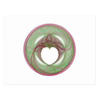 cercle rouge et vert de 3D avec l ouverture de coe Cartes Postales