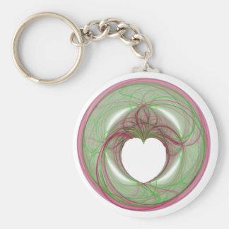 cercle rouge et vert de 3D avec l ouverture de coe Porte-clé