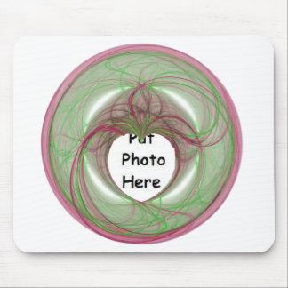 cercle rouge et vert de 3D avec l'ouverture de coe Tapis De Souris