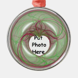 cercle rouge et vert de 3D avec l'ouverture de Décorations Pour Sapins De Noël