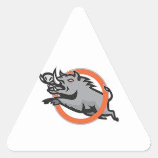 Cercle sautant de porc de balénoptère sauvage de v autocollants