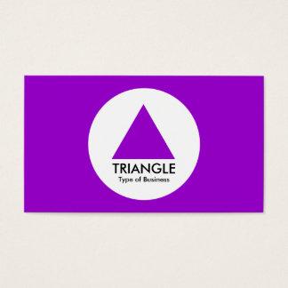 Cercle - triangle - pourpre cartes de visite