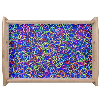 cercles 3D sur le plateau bleu de portion