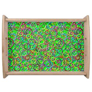 cercles 3D sur le plateau vert de portion