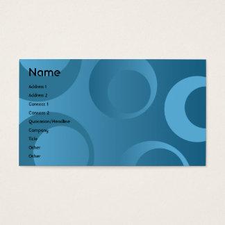 Cercles bleus - affaires cartes de visite