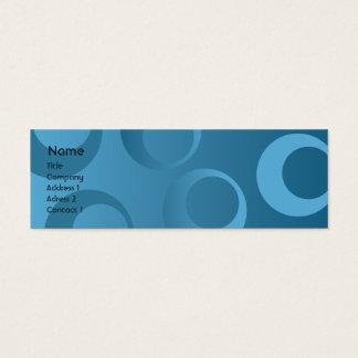 Cercles bleus - maigres mini carte de visite