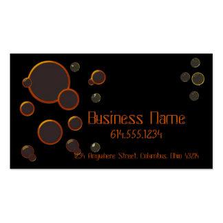 Cercles/carte de visite de couleur orange de bulle carte de visite standard
