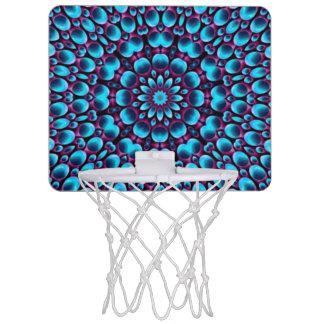 Cercles de basket-ball vintages de kaléidoscope de mini-panier de basket