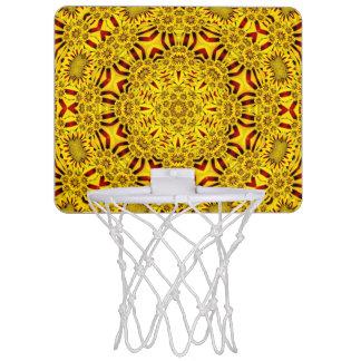 Cercles de basket-ball vintages    de kaléidoscope mini-panier de basket