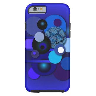Cercles de bleu de cas de téléphone coque iPhone 6 tough
