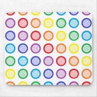 Cercles de charge statique d'arc-en-ciel tapis de souris