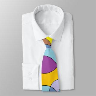 Cercles de couleur et ovales cravates