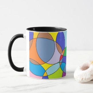 Cercles de couleur et ovales mugs