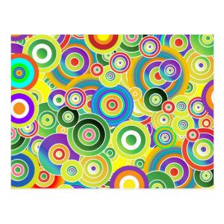Cercles de couleurs carte postale