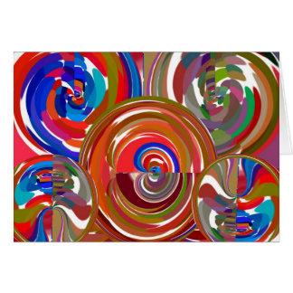 Cercles de nettoyage d'aura - mandala 7 de carte de vœux